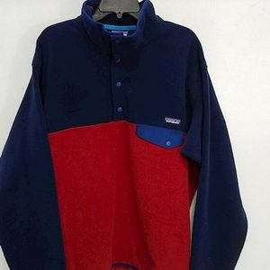 Patagonia Men's Snap-T Blue/Red Jacket Size L